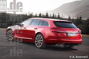 Opel Insignia вид сзади
