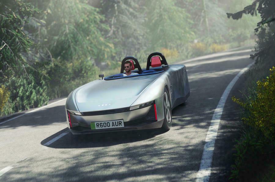 Концепт Aura - британский спортивный EV с запасом хода 400 миль