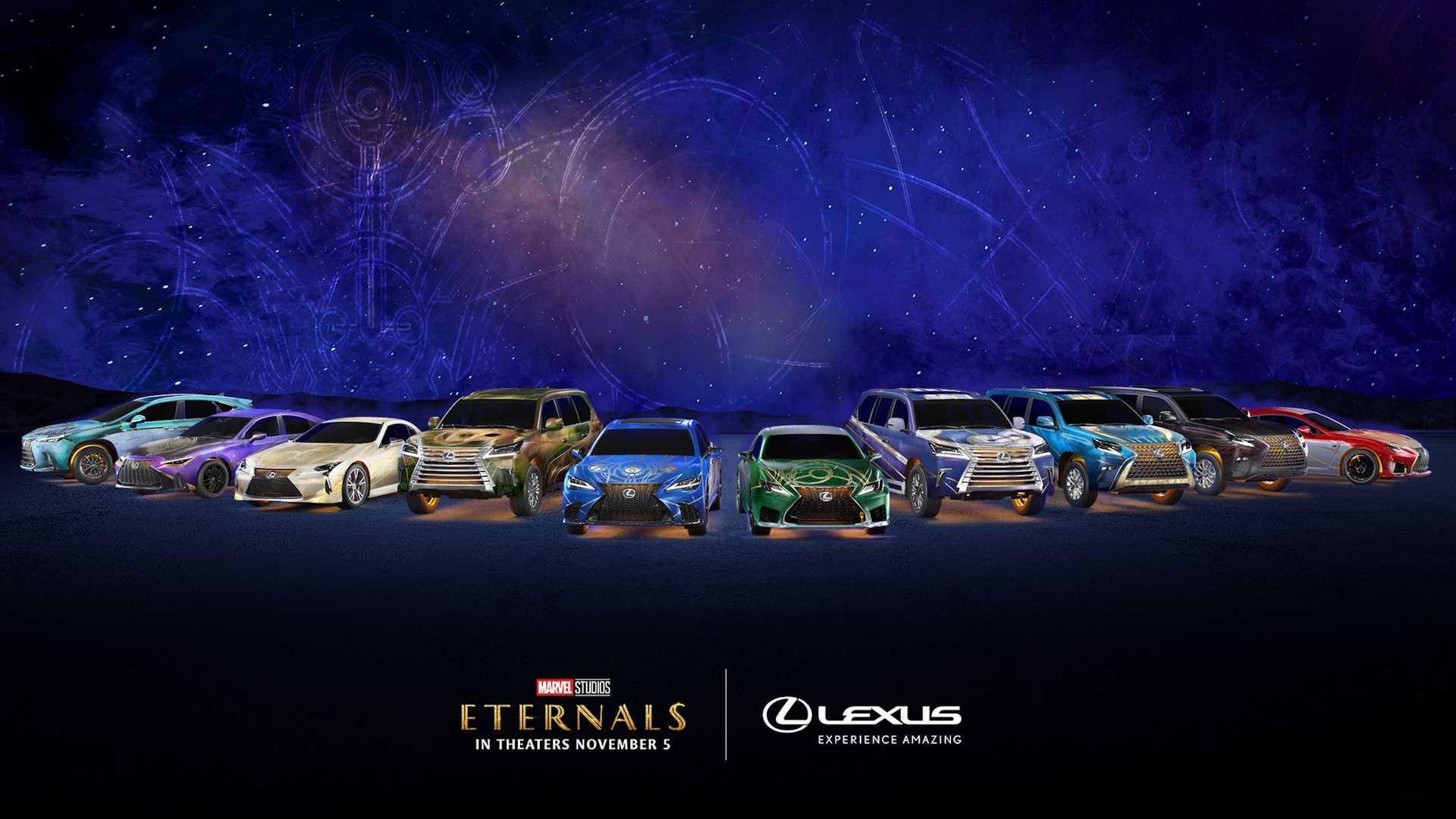 """Lexus и Marvel объединились для создания 10 злых концептов """"Вечных"""""""